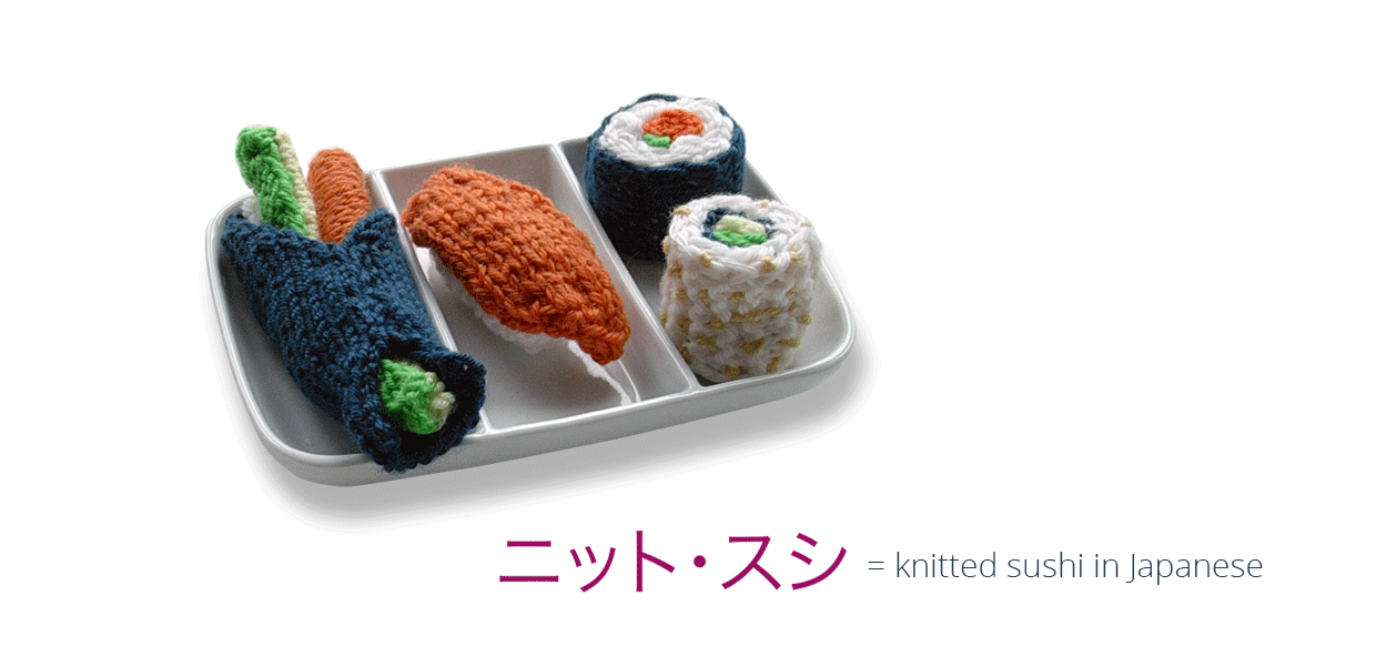 Knitsushi – Concept and Design for On- and Offline Media